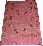 Embroidered Stole in Pink