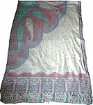 Paisley Printed and Embroidered Shawl [1054]