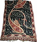 Black Stole with Embroidery