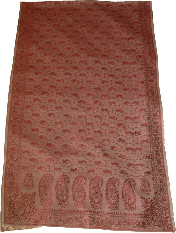 Semi Silk Stole in Paisley, Copper Rust Semi Silk Shawl
