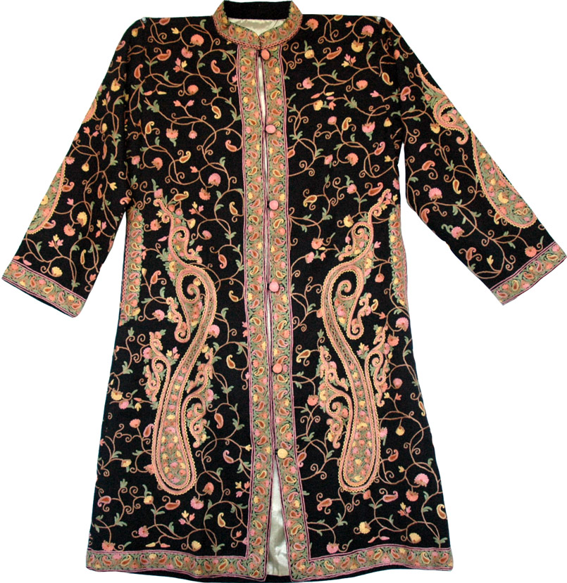 Exquisite Hand Embroidered Jacket  ScarfShawls  Sale On