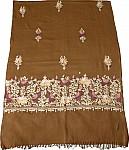 Mustard Kashmiri Shawl Embroidery Stole