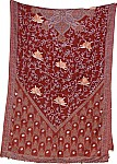 Scarf Shawl Embroidered Paisley