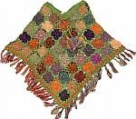 Green Crochet Poncho