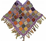 Purple Crochet Poncho