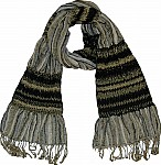 Gray Black Neck Scarf