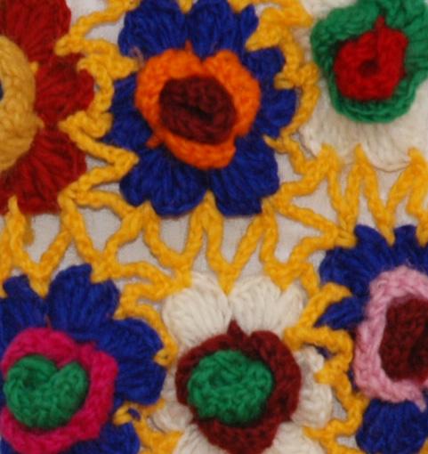 Charmian Wool Crochet Wool Scarf