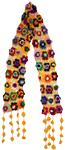 Crochet Flowers Yellow Scarf [2542]