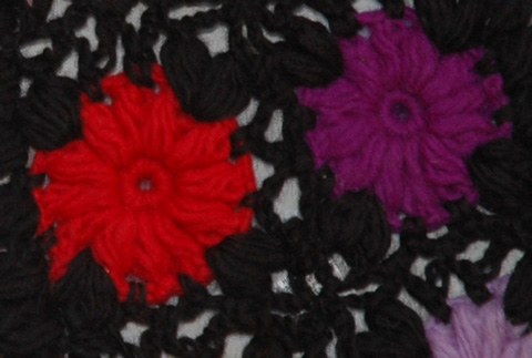 Black Crochet Fashion Scarf