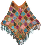 Sandy Crochet  Cotton Poncho