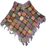 Lilac Khakhi Crochet Poncho Pattern