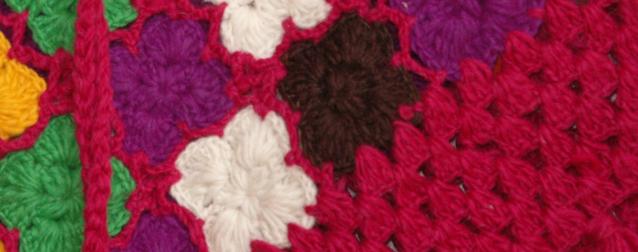 Shiraz Pink Wool Crochet Poncho