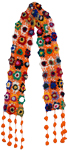 Orange Crochet Colorful Floral Scarf