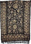 Black Embroidered Shawl Stole [2585]