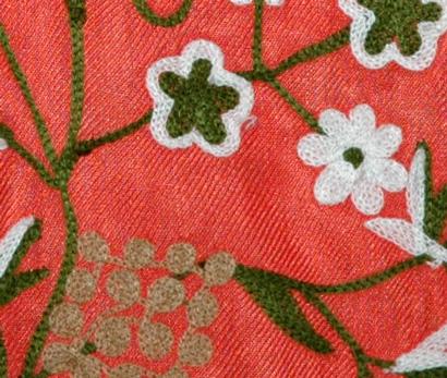 The Cinnabar Embroidered Shawl