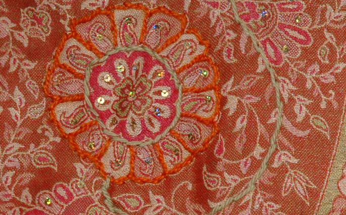 Tuscany Embroidery Sequins Shawl Stoll