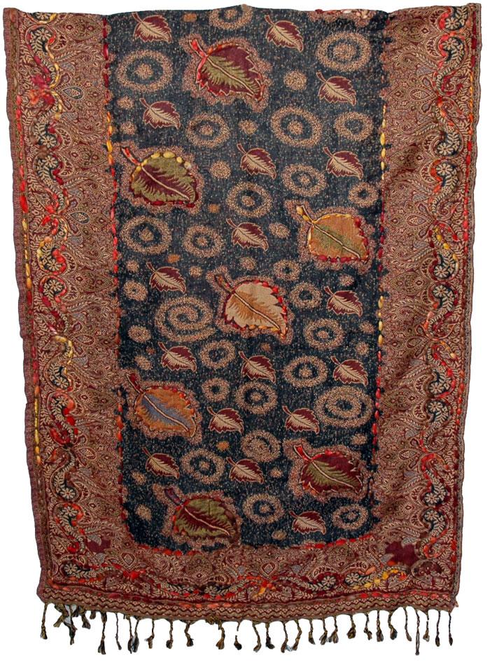 ... Kashmir-shawls-jade-green-wrap-hand-embroidery-floral- ...