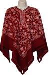 Mahogony Designer Wool Poncho