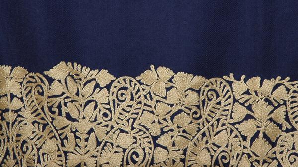 Ebony Clay Floral Shawl