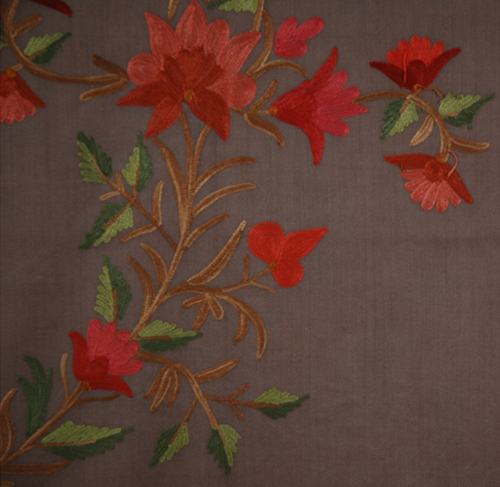 Ferra Floral Embroidered Shawl