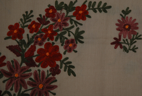 Pine Cone Embroidered Shawl
