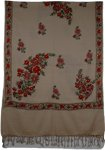 Sandstone Embroidery Indian Shawl [2712]