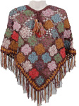 Como Brown Crochet Poncho [2748]