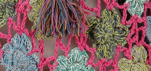 Sunny Pink Crochet Poncho