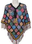 Crochet Pattern Poncho Handwork Black [2751]