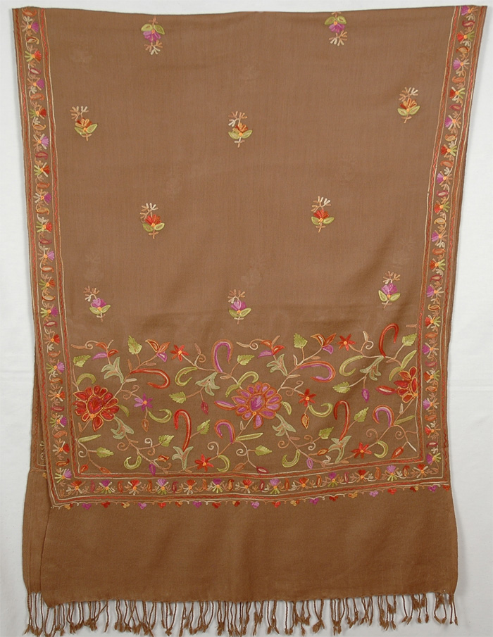Bright Embroidery Shawl, Potters Embroidery Shawl Stole