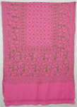 Mauvelous Hand Embroidery Pink Shawl Stole