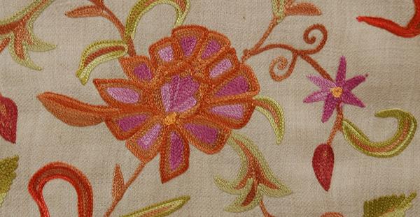 Vanilla Embroidery Shawl Stole