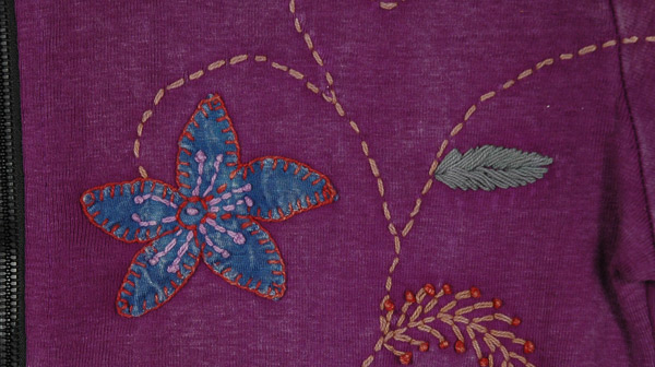 Purple Sense Embroidery Jacket
