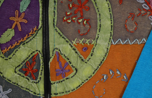 Cerulean Peace Embroidered Boho Jacket