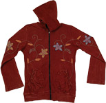 Brown Embroidery Winter Jacket [3551]