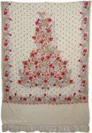 Cream Flowers Kashmiri Embroidery Shawl [3562]