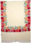 Cream Indian Embroidered Border Shawl [3564]
