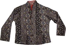 Womens Ethnic Printed Double Sided Cotton Jacket [4412]