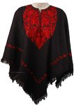 Beautiful Black Winter Wool Poncho [4455]