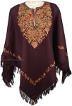 Chic Party Wear Poncho with Embroidery [4701]