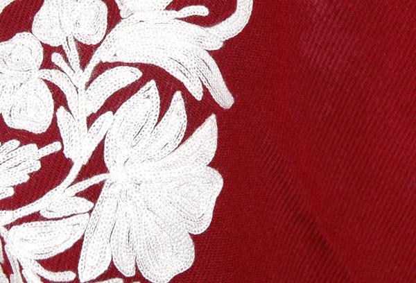 Merlot and White Himalayan Warm Wool Poncho
