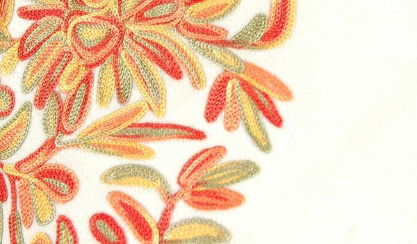 Coconut Cream Chateau Designer Wool Poncho