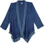 Blue Jeans Kimono Shrug Cardigan