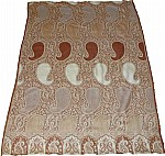 Brown Jamawar Wrap Stole