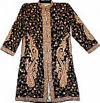 Long Black Embroidered Jacket