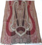 Maroon Paisley Jamawar Stole with Sequin