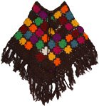 Brown Cottage Crochet Poncho