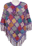 Purple Orchid Handwoven Crochet Poncho