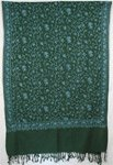 Green Embroidery Shawl Stole