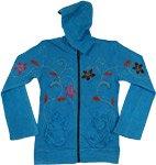 Boho Bahama Floral Hooded Jacket
